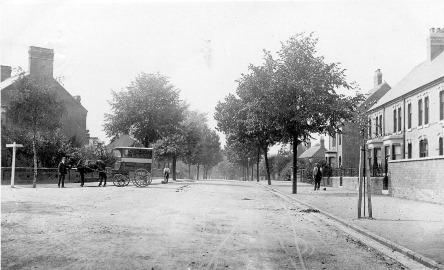 Hinckley Road near to the L.& N.W.R. station, Nuneaton.  1904 |  IMAGE LOCATION: (Warwickshire County Record Office)