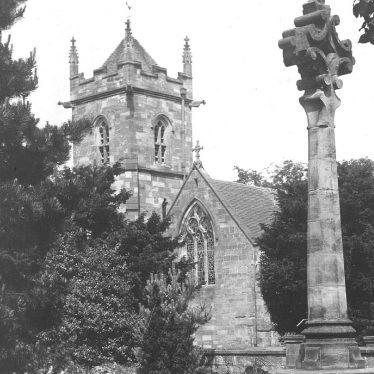 Lea Marston.  Church and cross