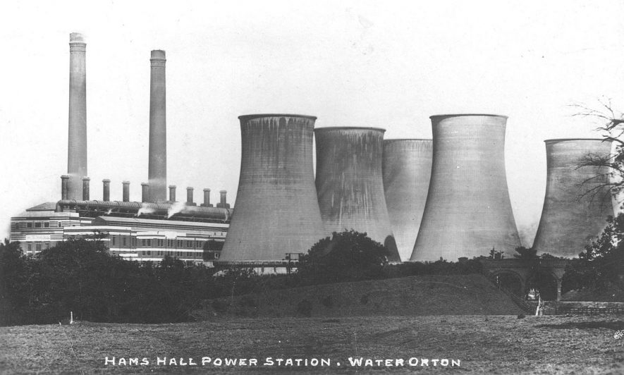 Hams Hall Electricity Generating Station between Water Orton and Lea Marston.  1938 |  IMAGE LOCATION: (Warwickshire County Record Office)