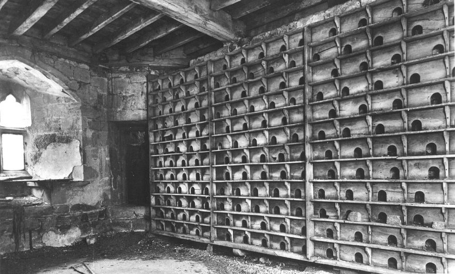 The pigeon loft at Maxstoke Castle.  1930s |  IMAGE LOCATION: (Warwickshire County Record Office)