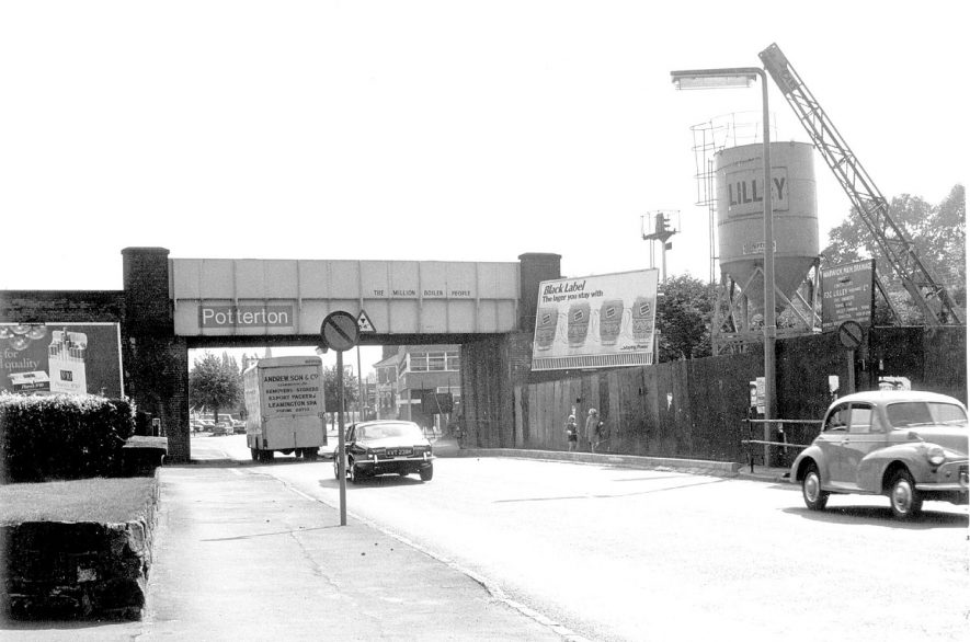 Railway bridge over Coventry Road, Warwick, at the junction with Lakin Road.  1960s | IMAGE LOCATION: (Warwickshire County Record Office)
