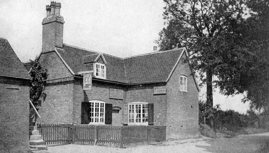 Exterior of The Griffin Inn, Shustoke. Proprietor - Fletcher J Fox.  1900s |  IMAGE LOCATION: (Warwickshire County Record Office)