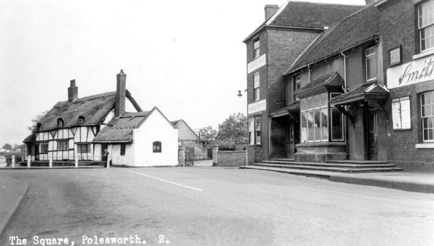 View of The Square, Polesworth.  1930s |  IMAGE LOCATION: (Warwickshire County Record Office)