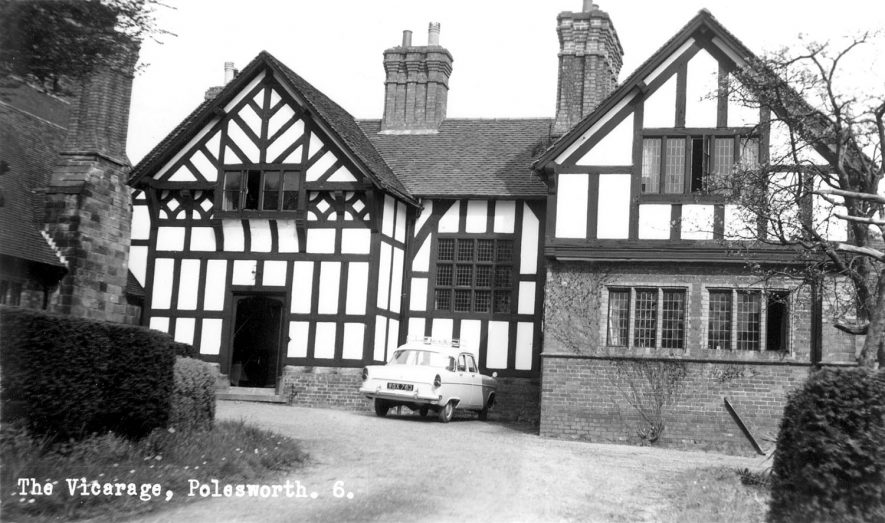 Exterior view of the vicarage, Polesworth.  1950s |  IMAGE LOCATION: (Warwickshire County Record Office)