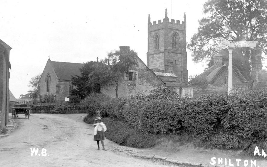 St Andrew's Church, Shilton.  1900s |  IMAGE LOCATION: (Warwickshire County Record Office)