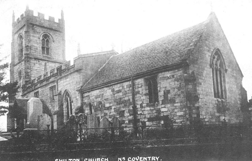Shilton parish church.  1900s |  IMAGE LOCATION: (Warwickshire County Record Office)