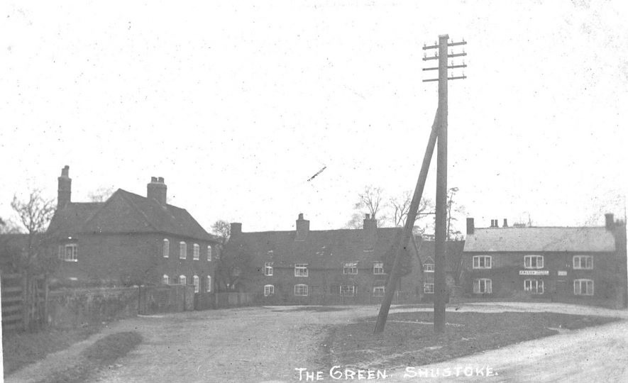 The Green, Shustoke.  1910s |  IMAGE LOCATION: (Warwickshire County Record Office)