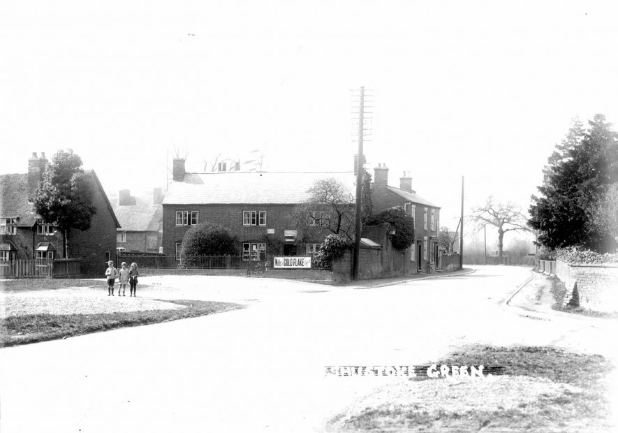 Shustoke Village Green, cottages and Post Office.   1930s |  IMAGE LOCATION: (Warwickshire County Record Office)