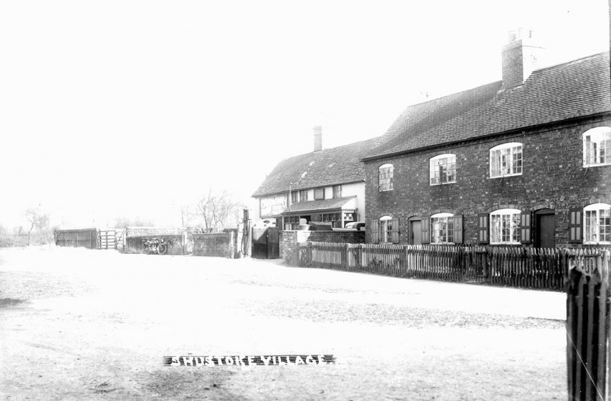 Street & cottages in Shustoke.  1930s |  IMAGE LOCATION: (Warwickshire County Record Office)