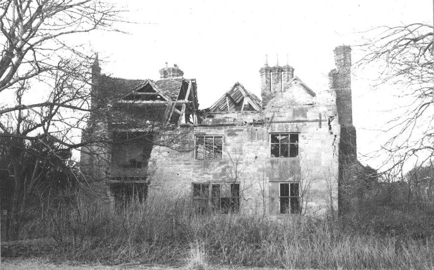 Ruin of Hall End Hall, Polesworth.  1968 |  IMAGE LOCATION: (Warwickshire County Record Office)
