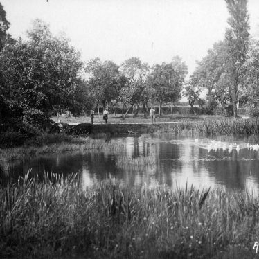 Armscote.  Pond and orchard