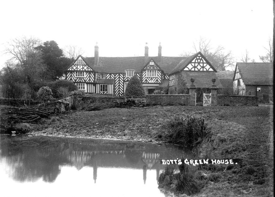 Bott's Green House, Nether Whitacre.  1930s |  IMAGE LOCATION: (Warwickshire County Record Office)