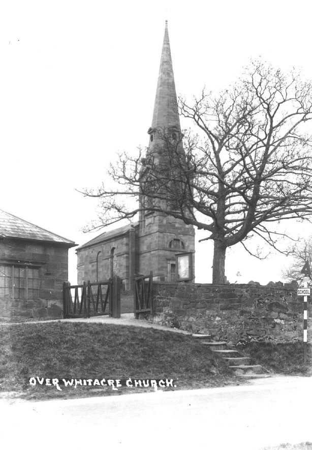 Exterior of St Leonard's Church, Over Whitacre.  1930s |  IMAGE LOCATION: (Warwickshire County Record Office)