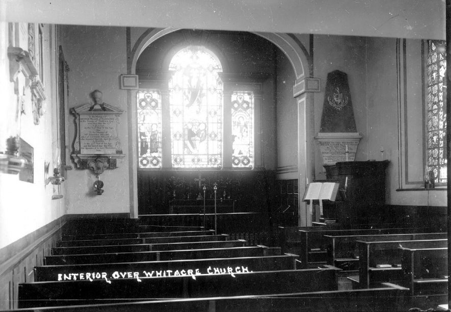 Interior of St Leonard's Church, Over Whitacre.  1930s |  IMAGE LOCATION: (Warwickshire County Record Office)