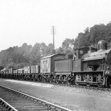 Shilton.  L.N.W.R. 0-6-0 goods train
