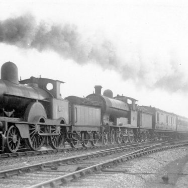 Shilton.  L.N.W.R. double engine express train