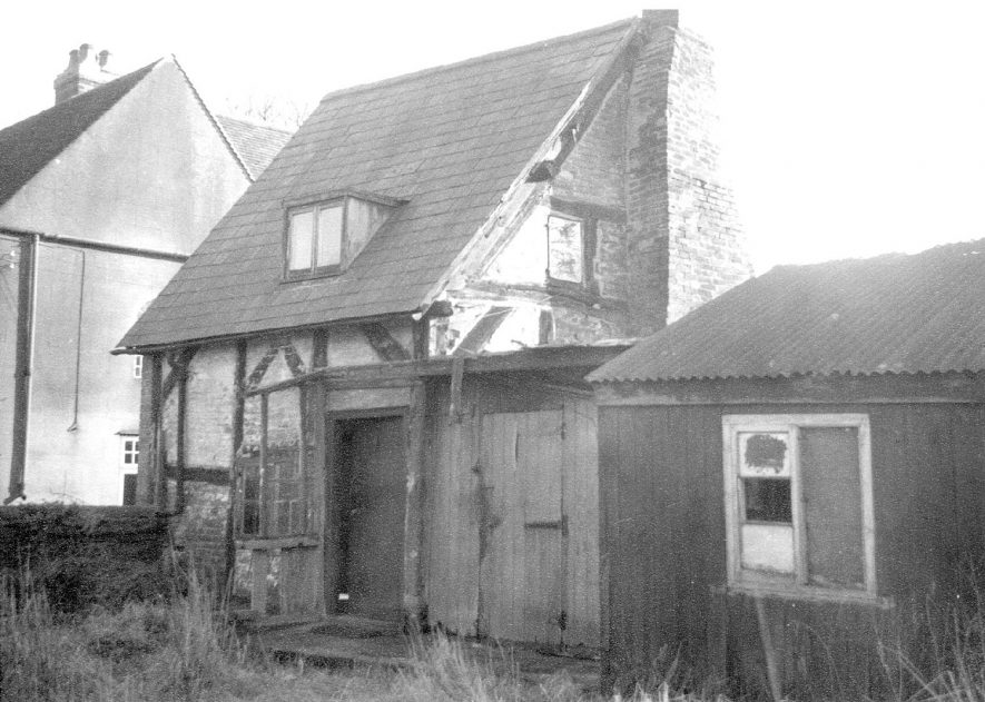 The Croft Cottage, Ridley Lane, Nether Whitacre which was demolished in 1962. |  IMAGE LOCATION: (Warwickshire County Record Office)