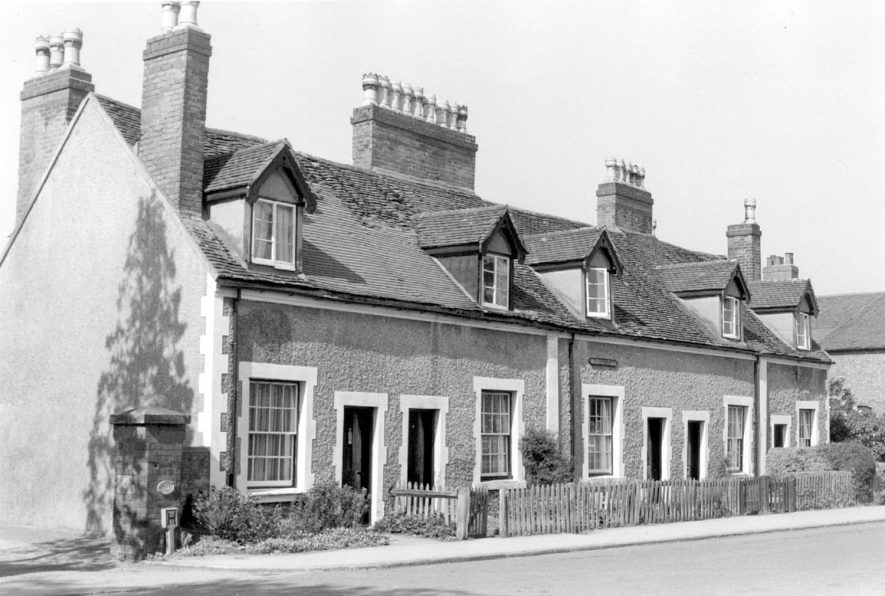 Heathfield Cottages, 15,17,19,21 & 21a Coleshill Road, Water Orton which were demolished in 1967. |  IMAGE LOCATION: (Warwickshire County Record Office)