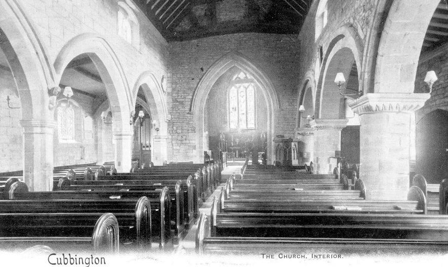 Interior view of Cubbington parish church.  1930 |  IMAGE LOCATION: (Warwickshire County Record Office)