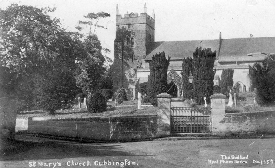 St Mary's Church and churchyard, Cubbington.  1910s |  IMAGE LOCATION: (Warwickshire County Record Office)
