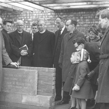 Cubbington.  Foundation stone for Methodist Chapel