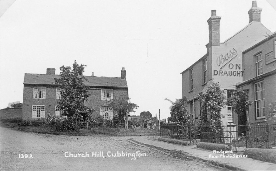 Church Hill, Cubbington. The house facing was originally built as a school.  1950s