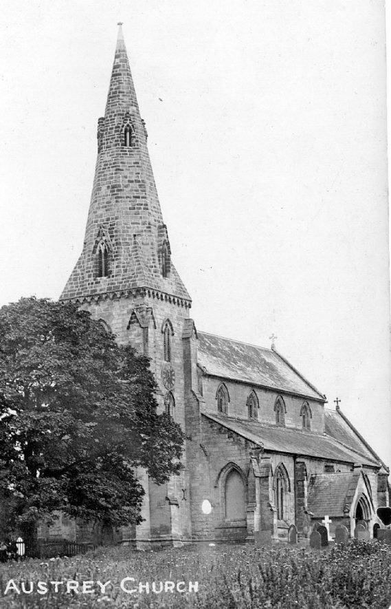Austrey Church.  1920s |  IMAGE LOCATION: (Warwickshire County Record Office)