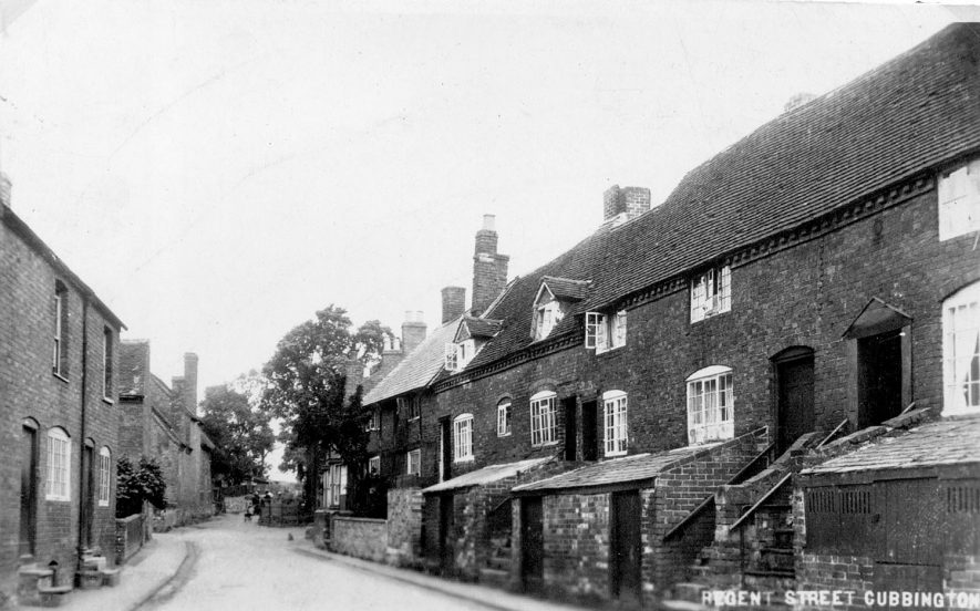 Jacob's Lane, Cubbington, which became Regent Street and is now Ledbrook Road.  1930s