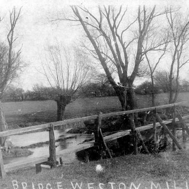 Weston under Wetherley.  Weston Mill Bridge