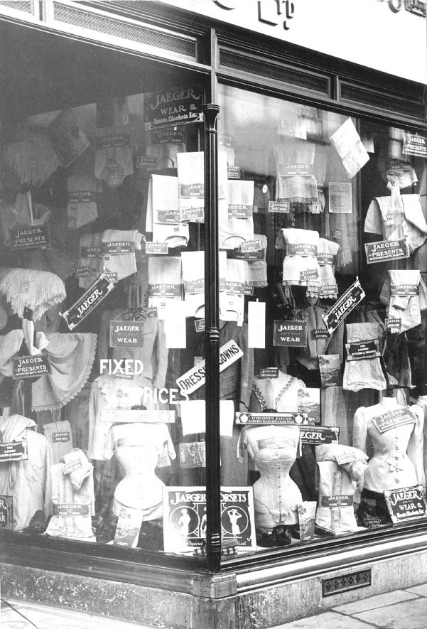 Shop window display at E. Francis & Sons, Bath Street, Leamington Spa.  1920s |  IMAGE LOCATION: (Warwickshire Museums. Photographic Collections.)
