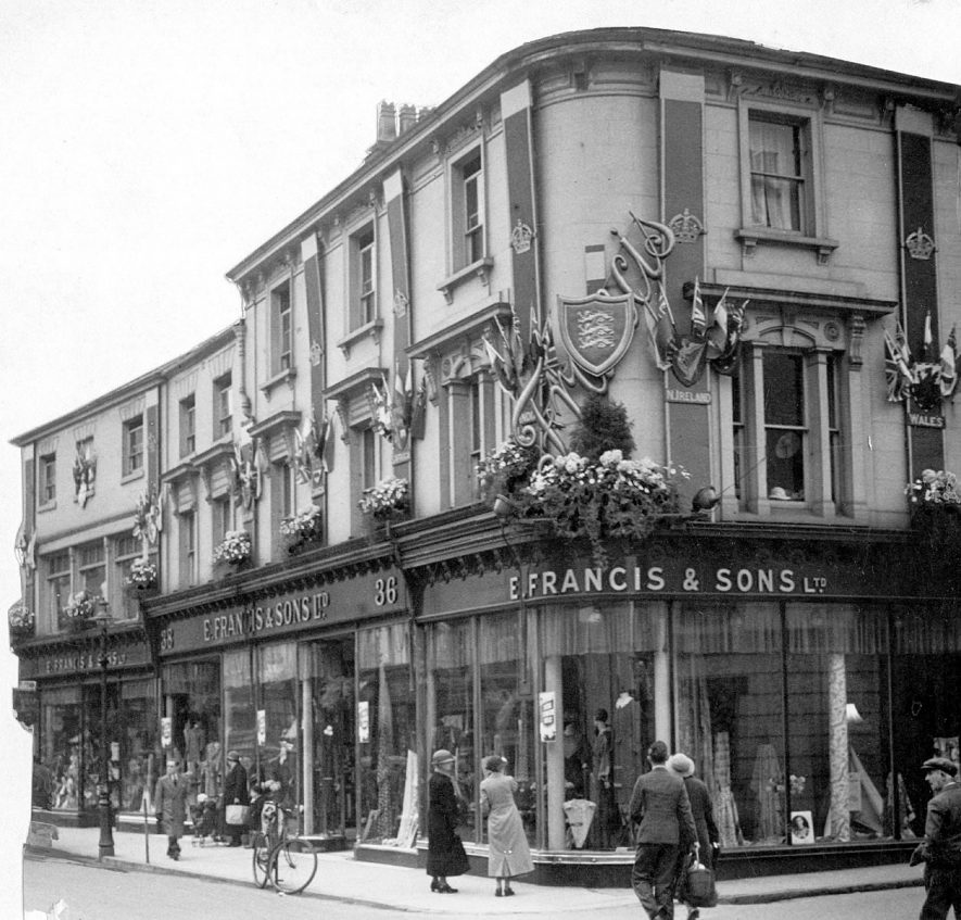 Exterior of E. Francis & Sons Ltd. Bath Street, Leamington Spa.  1920s |  IMAGE LOCATION: (Warwickshire Museums. Photographic Collections.)