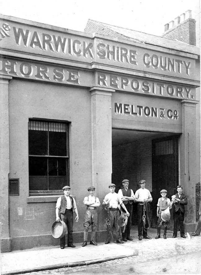 Bedford Street Horse Repository, Leamington Spa.  Melton & Co..  1910s |  IMAGE LOCATION: (Warwickshire Museums. Photographic Collections.)