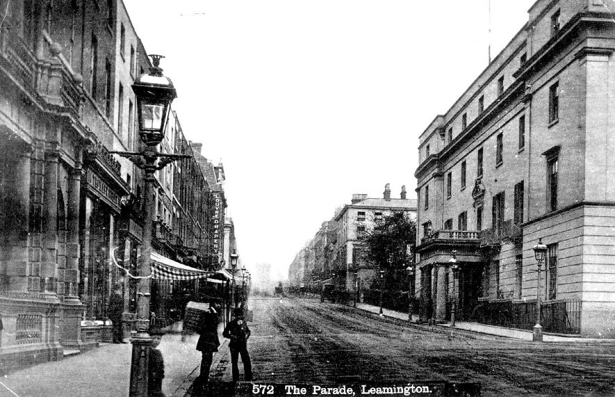 View of The Parade, Leamington Spa, with the Regent Hotel on the right.  1900s |  IMAGE LOCATION: (Warwickshire Museums. Photographic Collections.)