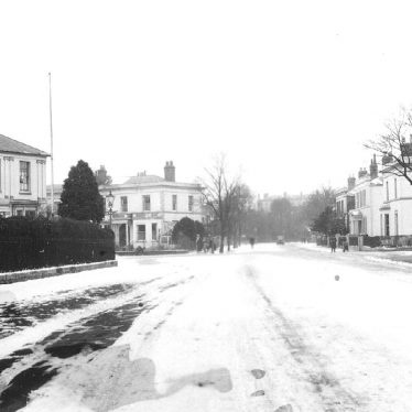 Leamington Spa.  Willes Road in the snow