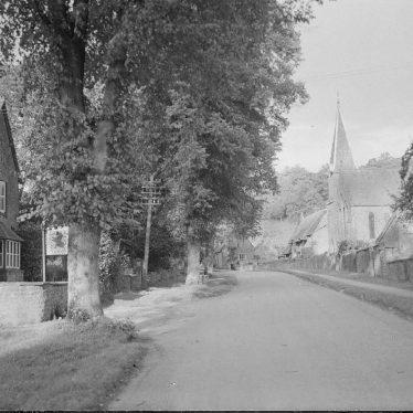 Avon Dassett.  Red Lion pub and church