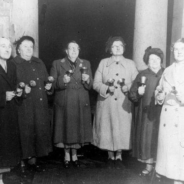 Cubbington.  Darby & Joan Club, handbell ringers