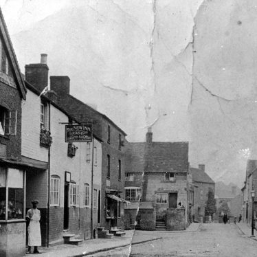 Cubbington.  Queen Street and High Street