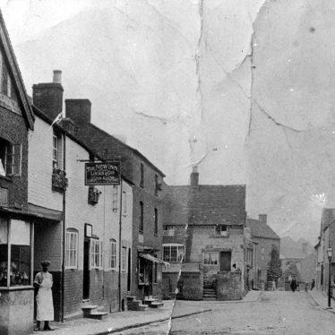 Cubbington.  Queen Street and High Street