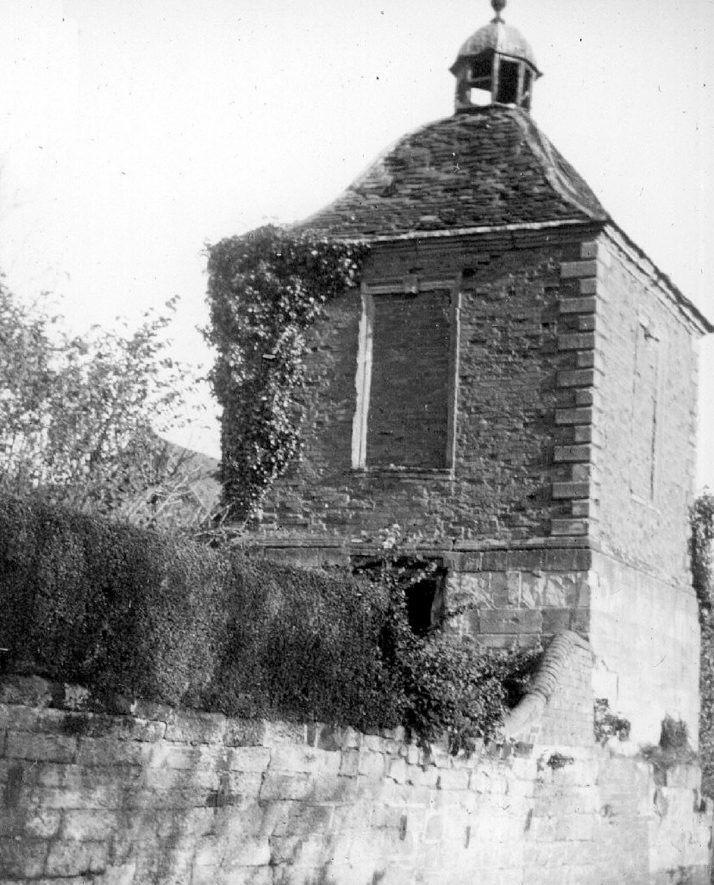 Cubbington dovecote, which was demolished for road widening.  1920s |  IMAGE LOCATION: (Warwickshire County Record Office)