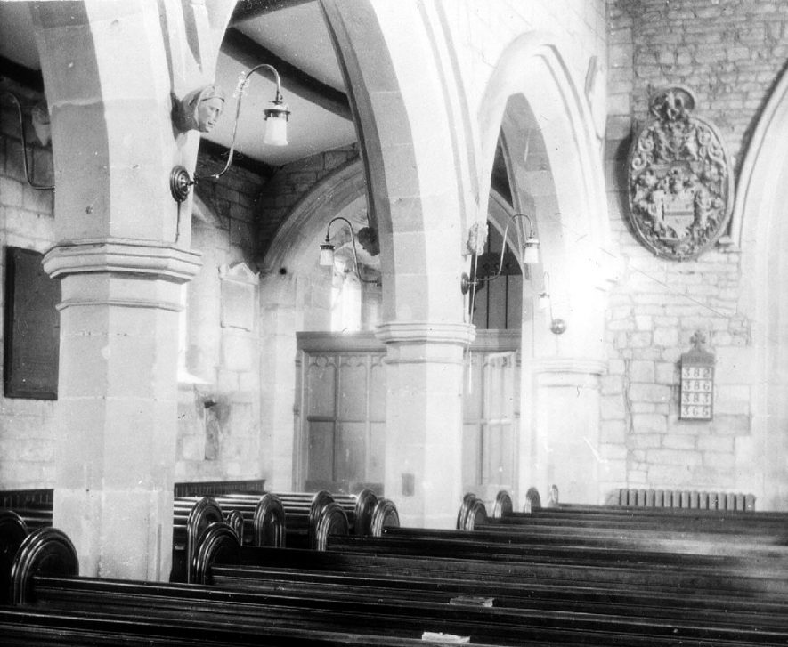 Cubbington church north aisle.  1930s |  IMAGE LOCATION: (Warwickshire County Record Office)
