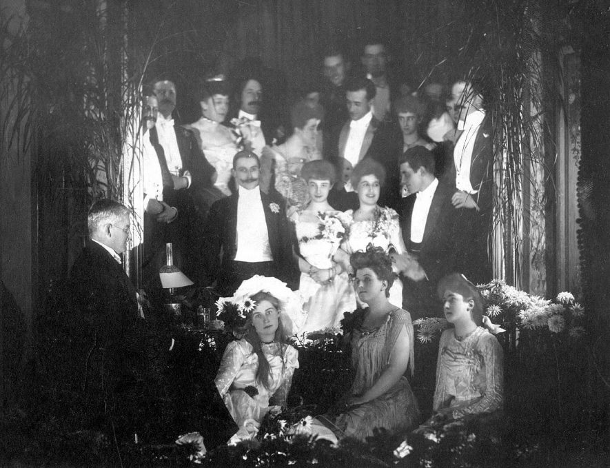 Midnight party, Christmas 1901 at Beauchamp Hall now demolished. in Beauchamp Square which no longer exists.