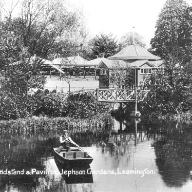 Leamington Spa.  Jephson Gardens, bandstand and pavilion