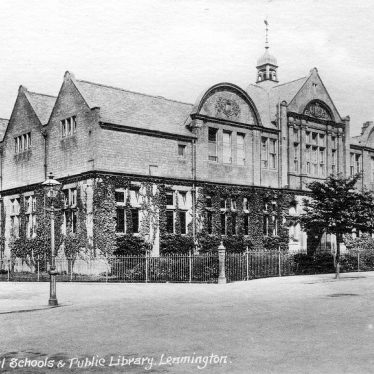 Leamington Spa.  Municipal schools and public library