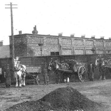 Leamington Spa.  Milverton Station, coal delivery