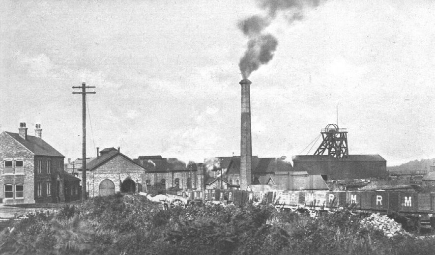 Baddesley Collieries. Colliery buildings with shaft head and chimney.  1930s |  IMAGE LOCATION: (Warwickshire County Record Office)