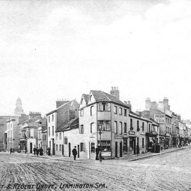 Leamington Spa.  Regent Street and Regent Grove