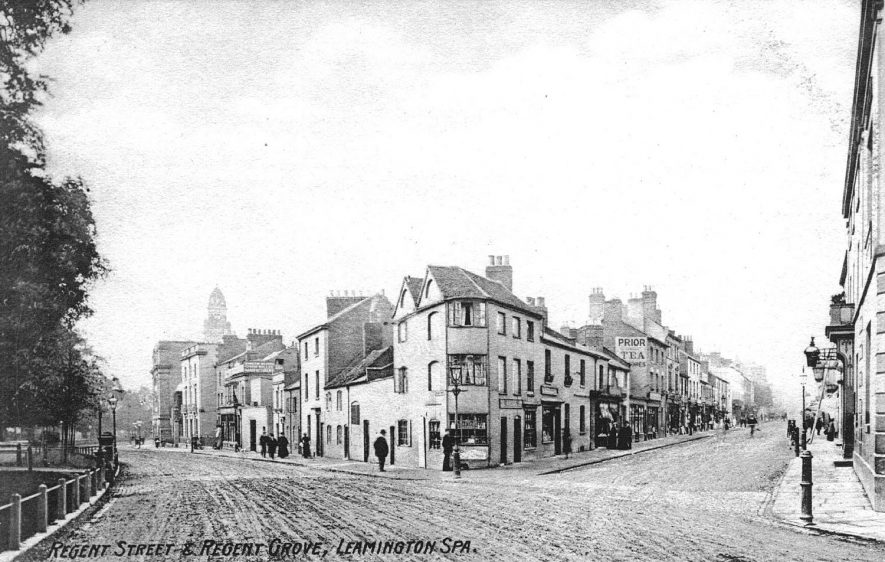 Intersection between Regent Street and  Regent Grove, Leamington Spa.  1910s |  IMAGE LOCATION: (Warwickshire County Record Office)