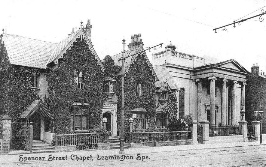 Spencer Street Congregational Chapel, Leamington Spa.  1900s    IMAGE LOCATION: (Warwickshire County Record Office) SCAN DATE: (16/99)