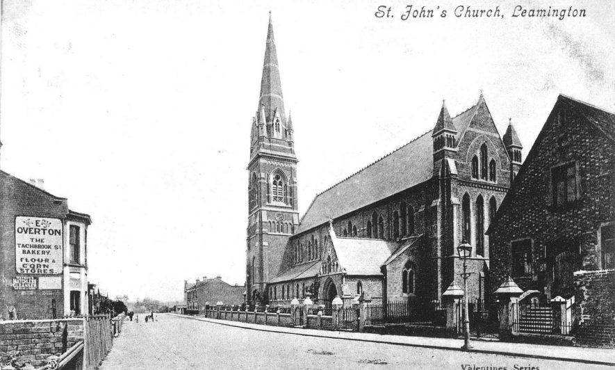 St John's Church, Tachbrook Street, Leamington Spa.  1910s |  IMAGE LOCATION: (Warwickshire County Record Office)