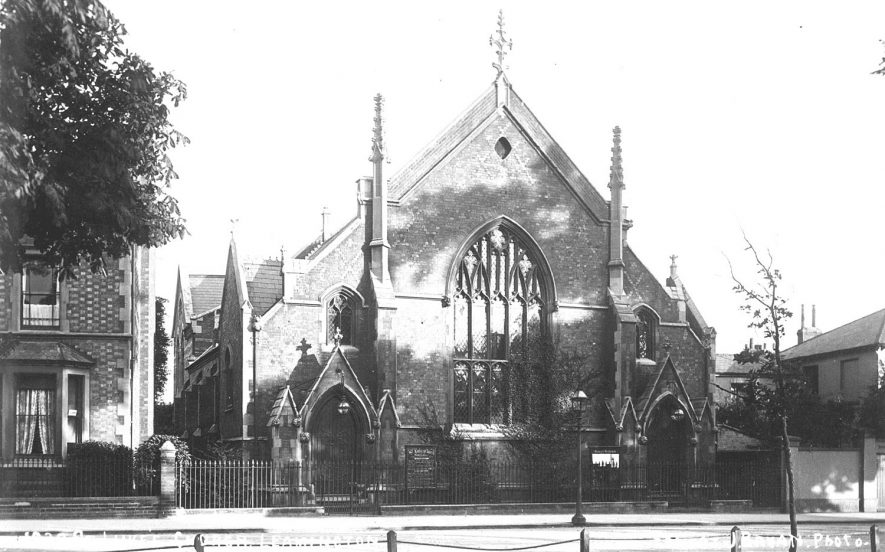 St Luke's church, Leamington Spa.  Now demolished.  1910s |  IMAGE LOCATION: (Warwickshire County Record Office)